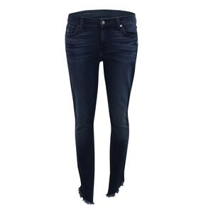 7 For All Mankind The Ankle Skinny Jeans Navy